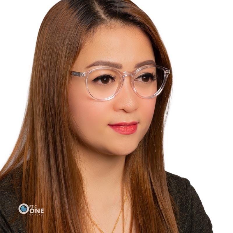 Women's clear round eyeglass