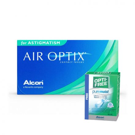 AirOptix astigmatism with free 60ml optifree puremoist