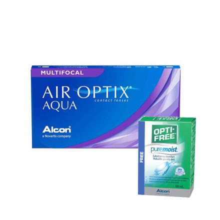 Air Optix Multifocal with free 60ml optifree solution
