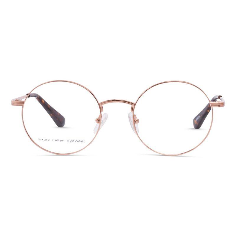 Round eyeglass frame