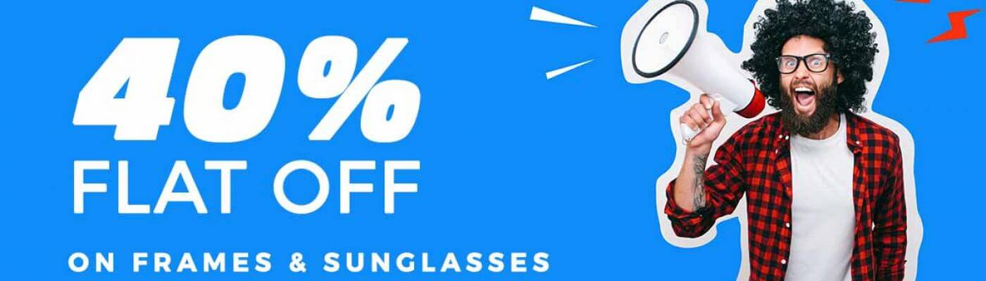 40% OFF on eyeglasses