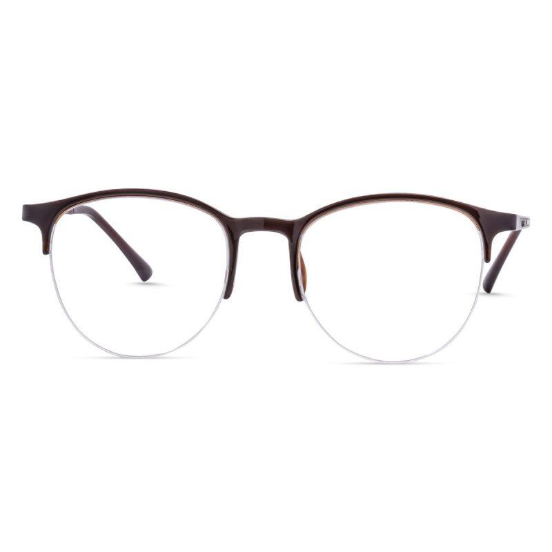 Round eyeglasses half