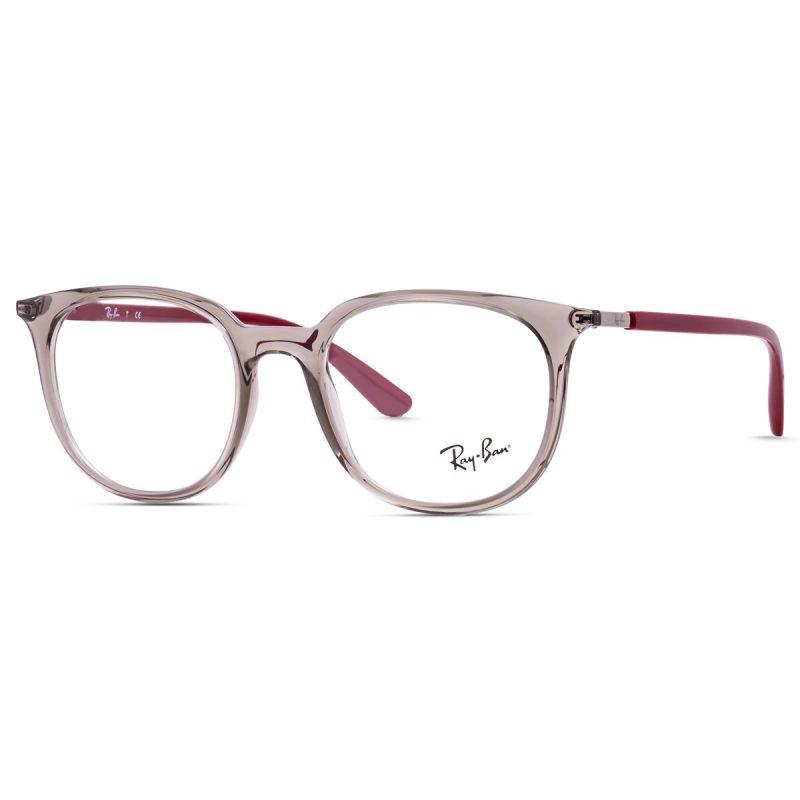 % Rayban New Women's Frame Clear-Burgundy RB7190 8083