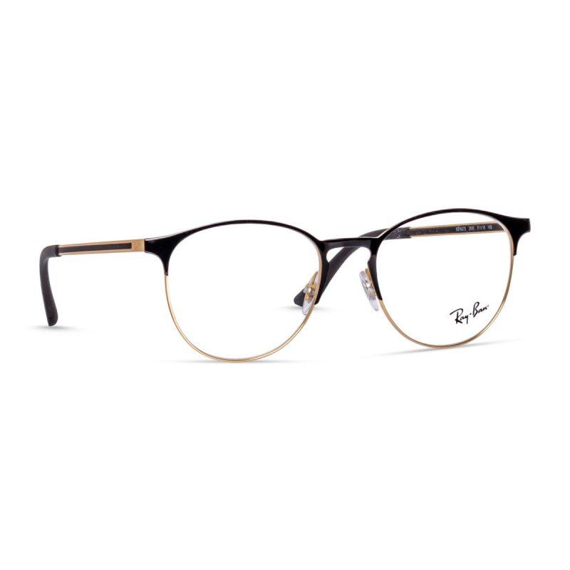 % Rayban Round Frame Black-Gold RB6375 2890