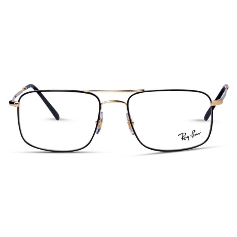 % Rayban Men's Metal Frame Gold-Black RX6434 2501