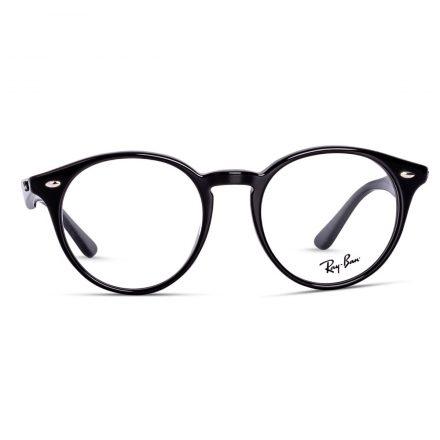 % Rayban Frame Round Acetate Glossy Black RB2180 VF 2000