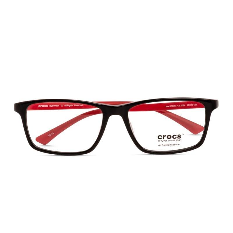 % CROCS Kids Eyeglass JR6058 Black-red