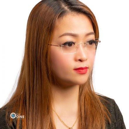 Women's rimless eyeglass