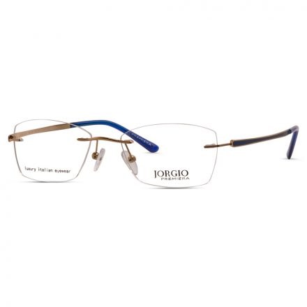 % Women's Rimless Eyeglass with Curved Side Arms