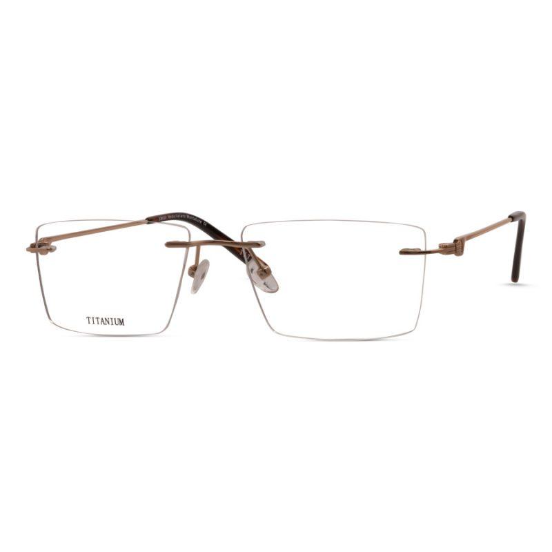 % Titanium Rimless Eyeglass- High-Quality, Large Size