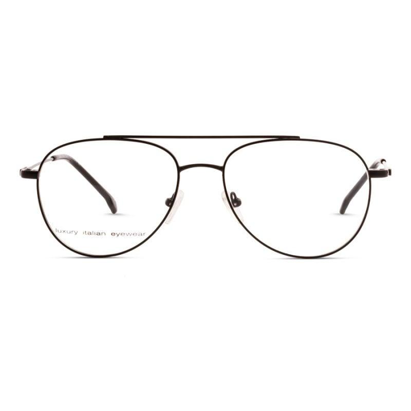 % Round Aviator Eyeglass -Full Metal, Unisex