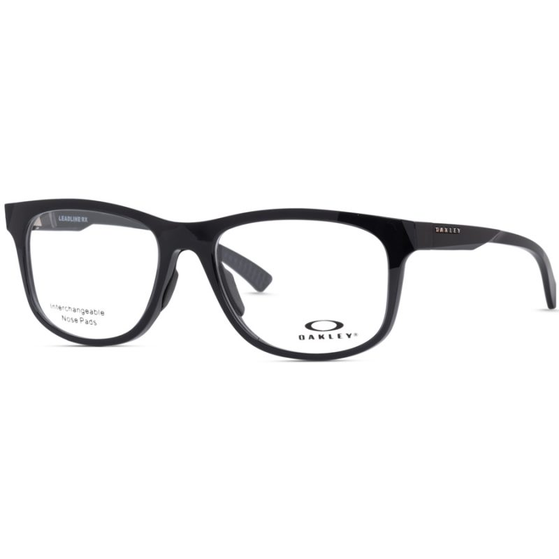 % Oakley Eyeglass Frame OX8175 LEADLINE RX | GLOSSY BLACK