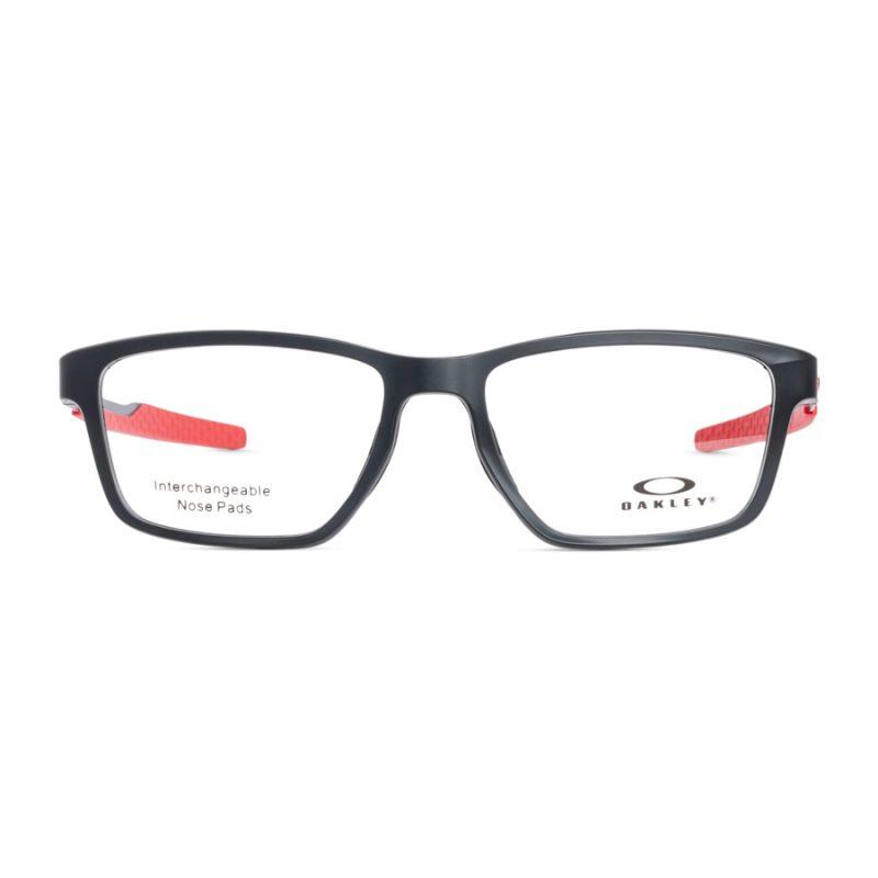 % Oakley Eyeglass Frame OX8153 METALINK | MATTE BLACK-RED