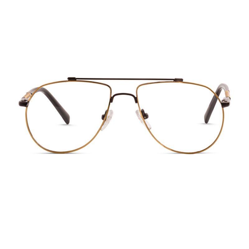 % Aviator Eyeglass- Unisex, Full Metal for Small-Medium Faces