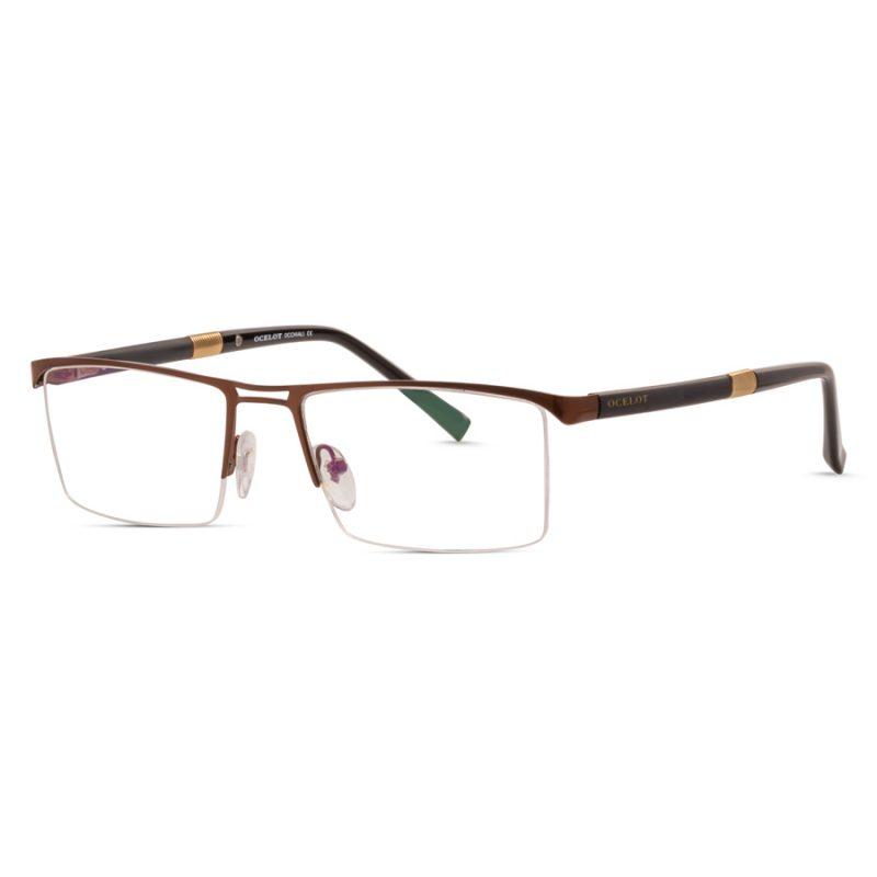 % Men's Eyeglass - Half Metal Frame with Double-Bridge