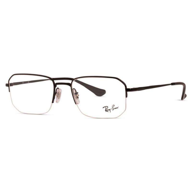 % Rayban Frame RB6449 2509 | Half Metal Black