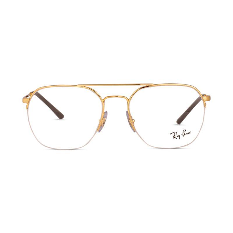 % Rayban Frame RB6444 2500 | Half Metal Gold