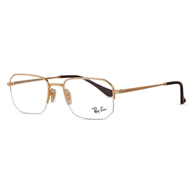 % Rayban frame RB6449 2500 | Half Metal Gold