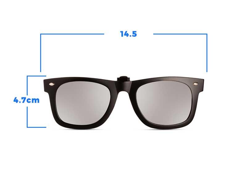 % Wayfarer Style Clip-On Sunglass Flip-Up
