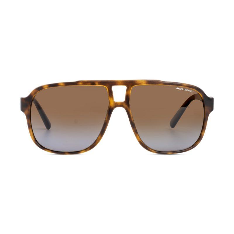 % Armani Exchange Large Men's Sunglass AX4104S Brown | Polarized
