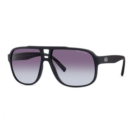 % Armani Exchange Large Men's Sunglass AX4104S Black