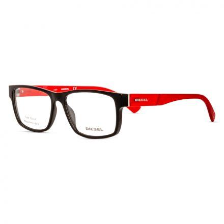 % Diesel Men's Eyeglass Frame DL5379 Matte Black-Red