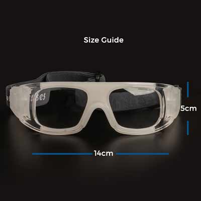 % Sports Basketball Goggles with Prescription - Large Size