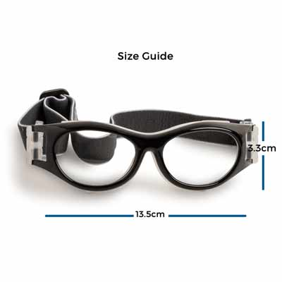 % Sports Basketball Goggles with Prescription | Oval, For Small Faces