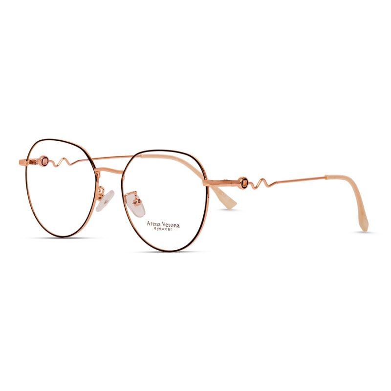 Women's round eyeglass