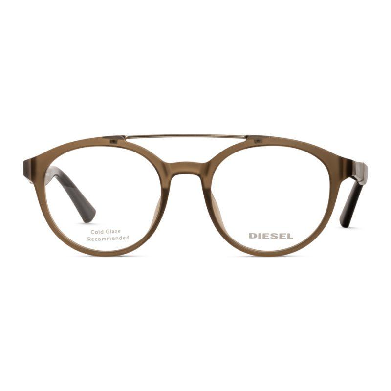 % Diesel Unisex Round Eyeglass Frame DL5270