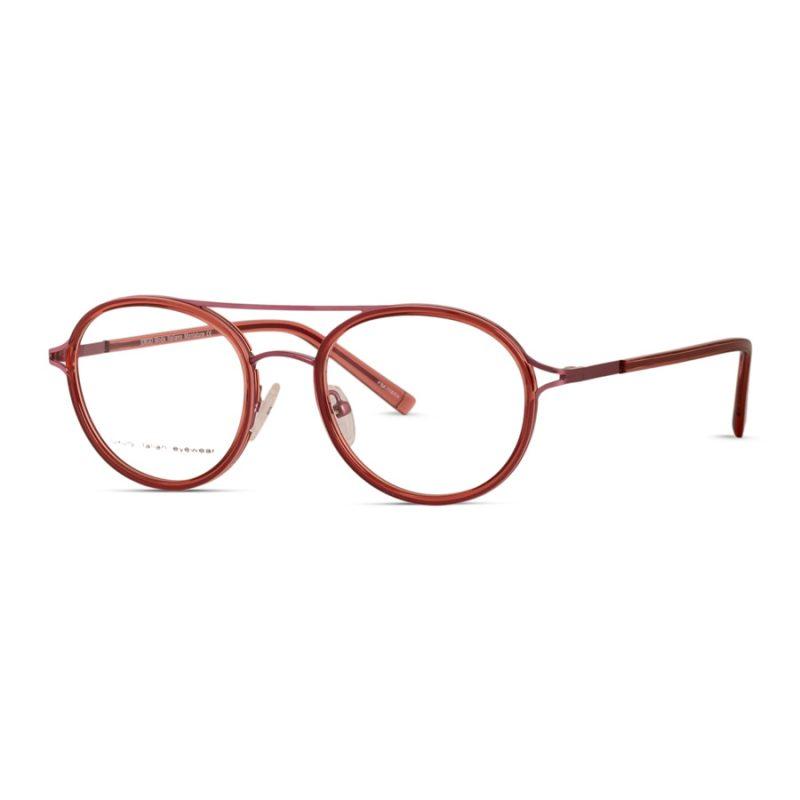 Round Eyeglass with double bridge