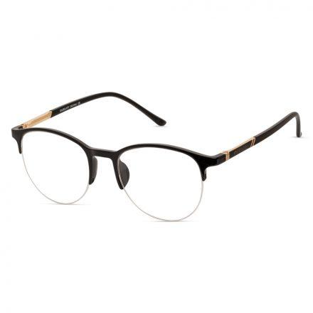 round half-rim eyeglasses