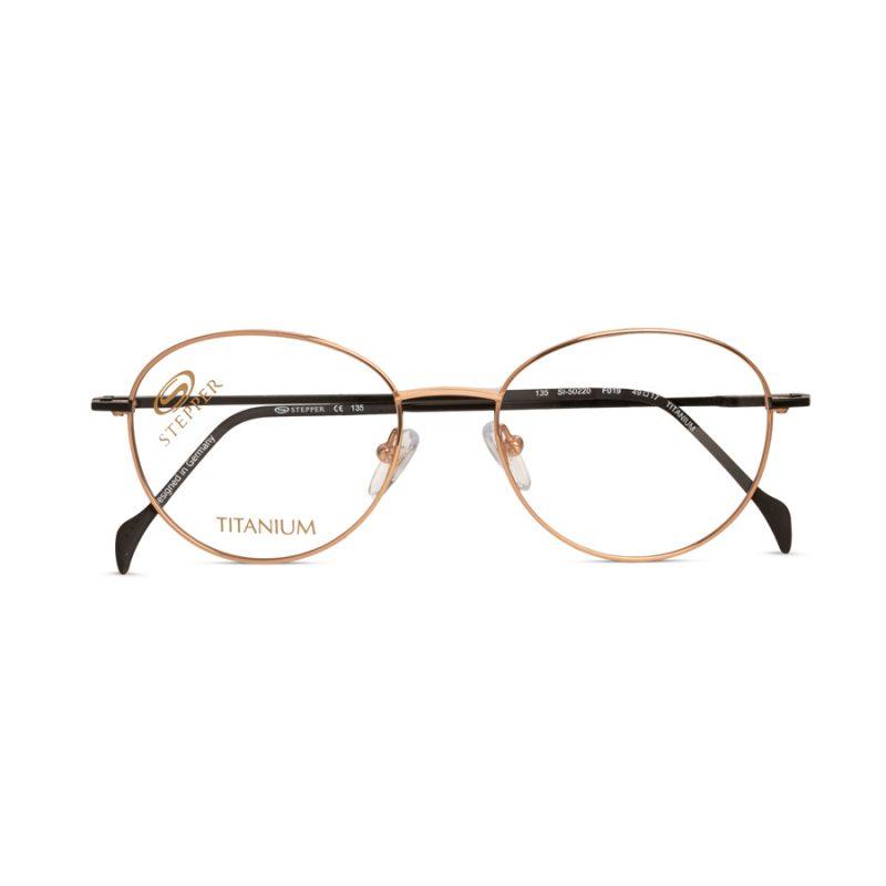stepper lightweight titanium round glasses