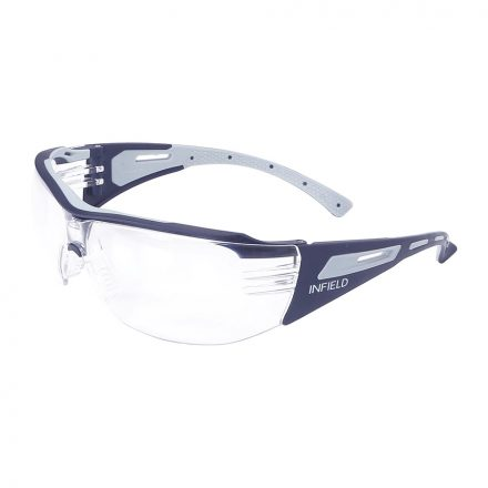 Infield safety glasses